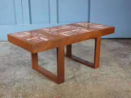 vintage tiled coffee table coffee table and decoration