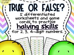 true or false halves worksheets and game by littlesherbetlemon