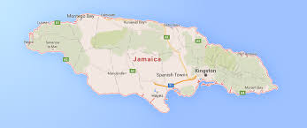 jamaica physical map history of jamaica