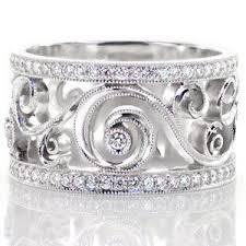 filigree wedding band lulu bea custom design rings jewelers