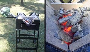 Backyard Blacksmithing Yes It Says Wood Fired Making This Blacksmithing Forge Ideal For