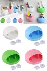 Bathroom Cup Dispenser Wall Mount Visit To Buy Cute Eggs Design Toothbrush Holder Suction Hooks