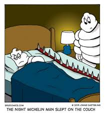 Michelin Man Meme - o 13 lonnie easterling spudcomicscom the night michelin man slept on