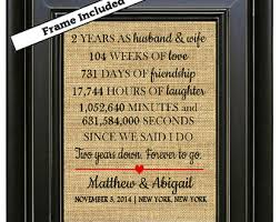 2 year wedding anniversary gift ideas 2nd anniversary gift etsy