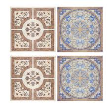 Decorative Tiles For Kitchen Backsplash Decorative Tiles Stickers Lisboa Set Of 4 Tiles Tile Decals