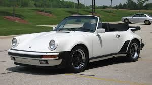 white porsche 911 convertible 1986 porsche 911 turbo look m491 cab gp white black