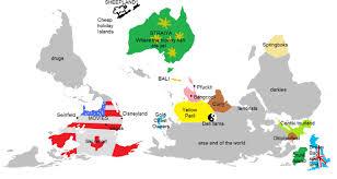 Australian Map Of The World by Australia Vs America Jacobthelegendtipps