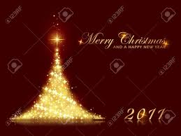 merry christmas and new year card christmas lights decoration