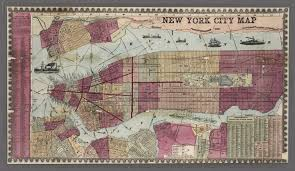 A Map Of New York City by Map Of New York City From 1857 The Public Domain Review