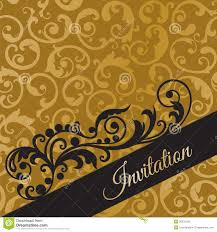 Invitation Card Free Luxury Black And Gold Invitation Card With Swirls Royalty Free