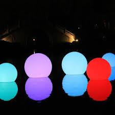 floating pool ball lights led floating swimming pool sphere light 50cm lights floating pool