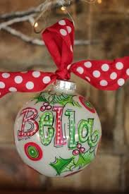painted personalized ornaments this adorable