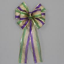 mardi gras ribbon mardi gras bows package bows