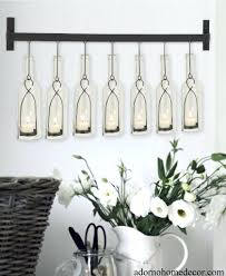 wall ideas stone wall candle decor large wrought iron candle