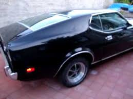 Black Fastback Mustang 1973 Mustang Fastback 351 Cleveland W Fmx Transmission Youtube