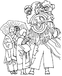 lion dancer book lion coloring page