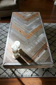 Diy Reclaimed Wood Side Table by Upscaled Pallet Chevron Coffee Side Table With Hairpin Legs