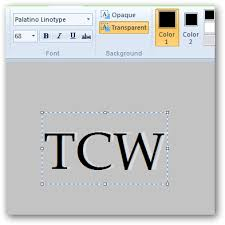 creating pressed text effect in ms paint