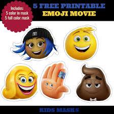 5 free printable emoji movie mask for kids