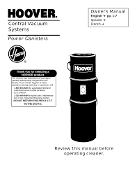 Hoover Garage Vacuum Wall Mounted Hoover Central Vacuum Systems User U0027s Manual