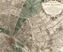 Map Of Paris France by Large Vintage Historic Paris France 1609 Old Antique Street Style