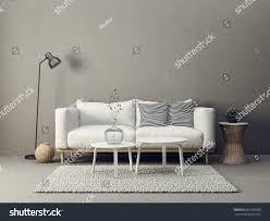 modern living room interior furniture 3d stock illustration