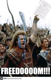 Braveheart Freedom Meme - the time i blew mel gibson for a role in maverick pintura