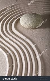 japanese zen garden sand rocks stones stock photo 96997892