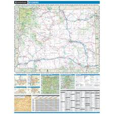 Map Of Wyoming And Colorado by Rand Mcnally Wyoming State Wall Map