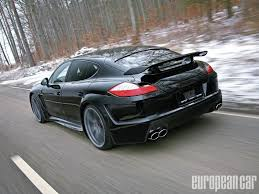 Porsche Panamera Blacked Out - porsche panamera turbo grand gt european car magazine