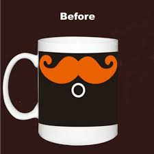 Coffee Magic moustache caneca chameleon coffee magic mugs changing color 330ml