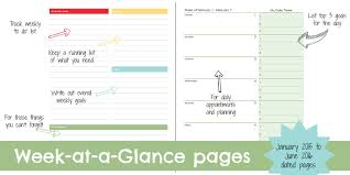 printable january 2016 weekly planner free yearly personal planner a 15 coupon for the weekly