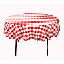 linentablecloth 70 inch polyester tablecloth and white