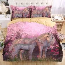 Unicorn Bed Set Wholesale Unicorn 3d Bedding Set Monocerus Print Duvet Cover Set
