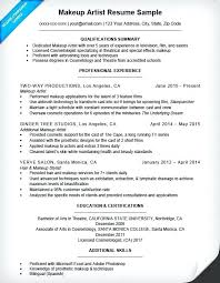 exle resume summary of qualifications makeup artist resume summary makeup artist sle resume skills