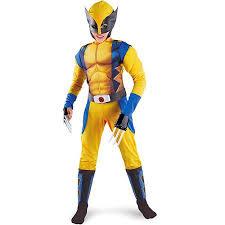 Boys Halloween Costumes Walmart Marvel Men Origins Wolverine Muscle Child Halloween Costume