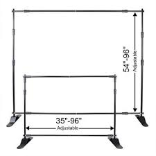 wedding backdrop stand malaysia 8x8 telescopic banner stand adjustable display trade show
