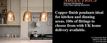 Kitchen Pendant Lighting Uk Copper Finish Kitchen Pendant Lighting Electricsandlighting Co Uk