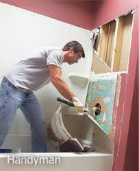 How To Install A Cast Iron Bathtub How To Install A Bathtub Install An Acrylic Tub And Tub Surround