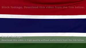 Gambia Flag National Flag Of Gambia Flying On The Wind Youtube