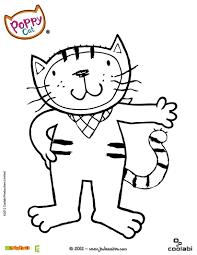 Coloriage POPPY CAT  Coloriages  Coloriage à imprimer gratuit  fr