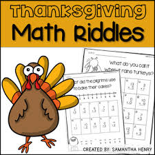 thanksgiving differentiated math riddles thanksgiving math math