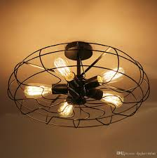 Country Style Ceiling Fans With Lights Loft Vintage Creative Lighting Ls American Country Style