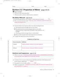 Bill Nye Matter Worksheet 2 2 Properties Of Water Worksheet Answers With Worksheet Pearson