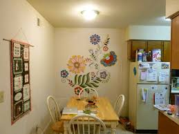 Dining Room Apartment Ideas Pretty Small Dining Room Apartment With Lovely Flower Wall
