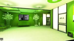 wallpaper lights video games city green office interior