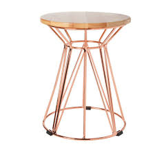 Wire Side Table Gold Wire Side Table By La De Dah Darcy