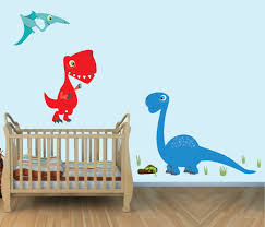 amazon com large dinosaur wall decals t rex colorful fabric amazon com large dinosaur wall decals t rex colorful fabric wall stickers for baby room baby