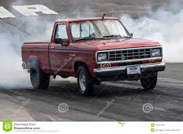 Ford Ranger Drag Truck - pickup truck on the drag strip editorial photography image 44734732