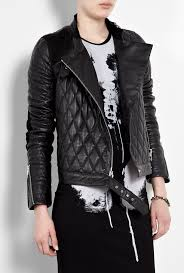 leather motorcycle jacket alexander mcqueen quilted leather motorcycle jacket by mcq